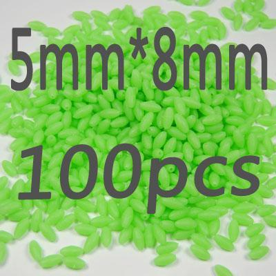 100Pcs/Lot More Models Premium Green And Orange Color Oval Soft Luminous Beads-Fishing Beads-Bargain Bait Box-5 8-Bargain Bait Box