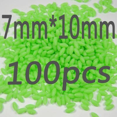 100Pcs/Lot More Models Premium Green And Orange Color Oval Soft Luminous Beads-Fishing Beads-Bargain Bait Box-7 10-Bargain Bait Box