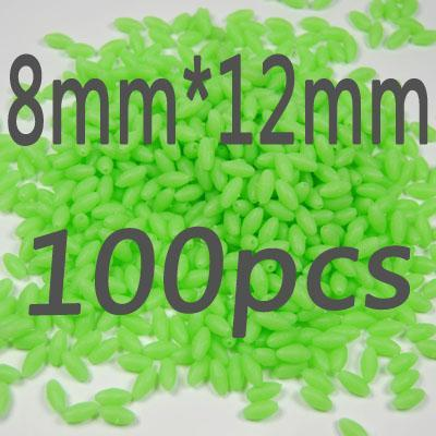 100Pcs/Lot More Models Premium Green And Orange Color Oval Soft Luminous Beads-Fishing Beads-Bargain Bait Box-8 12-Bargain Bait Box