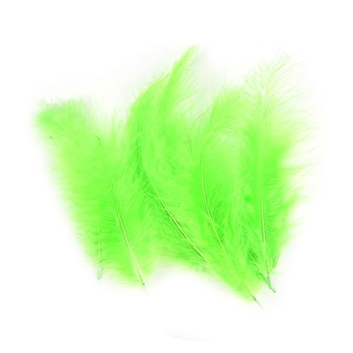 100Pcs/Lot Multi-Color Turkey Marabou Bugger Feather For Fly Tying Material Lure-Fly Tying Materials-Bargain Bait Box-Green-Bargain Bait Box