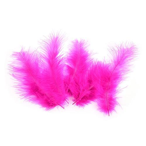 100Pcs/Lot Multi-Color Turkey Marabou Bugger Feather For Fly Tying Material Lure-Fly Tying Materials-Bargain Bait Box-Rose red-Bargain Bait Box