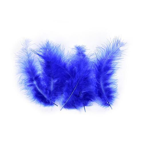 100Pcs/Lot Multi-Color Turkey Marabou Bugger Feather For Fly Tying Material Lure-Fly Tying Materials-Bargain Bait Box-Royal-Bargain Bait Box