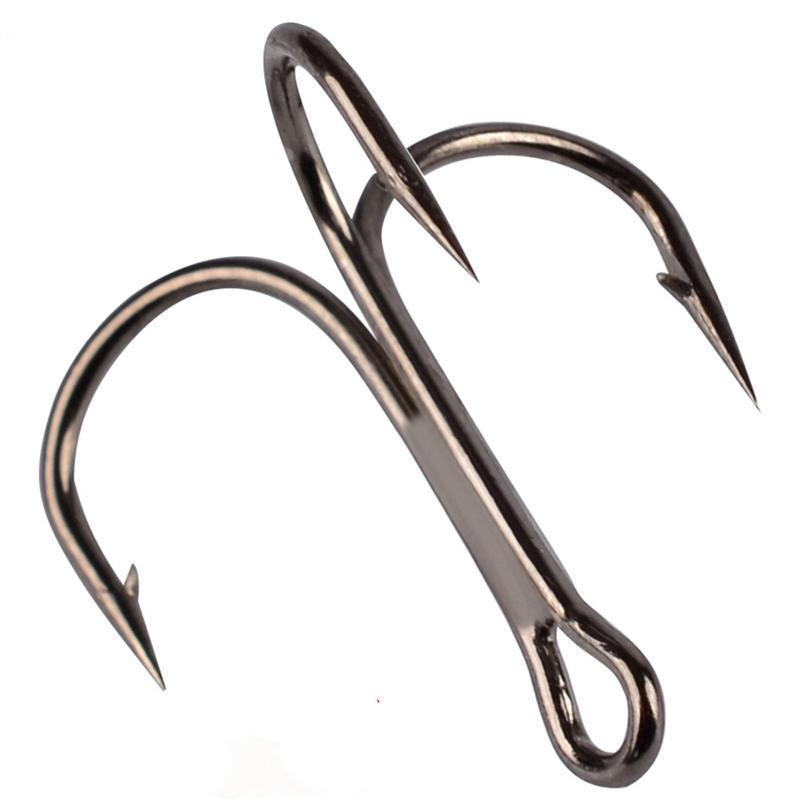 100Pcs/Pack Origin Three Anchors Treble Hook Triple Hook Without Feather Naked-Zhongyue Fishing Tackle Store-White-Bargain Bait Box