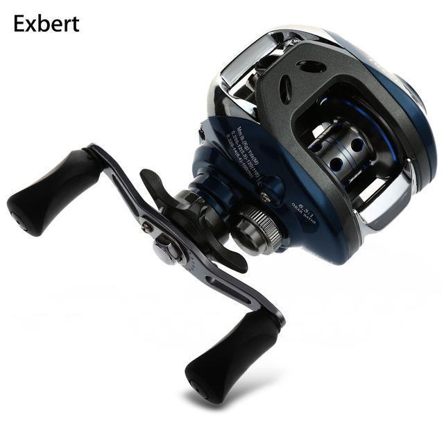 10+1Bb Ball Bearings 6.3:1 Left/Right Hand Bait Casting Fishing Reel Water-Baitcasting Reels-Bike-Lover's Equipment Store-Blue-Left hand-Bargain Bait Box