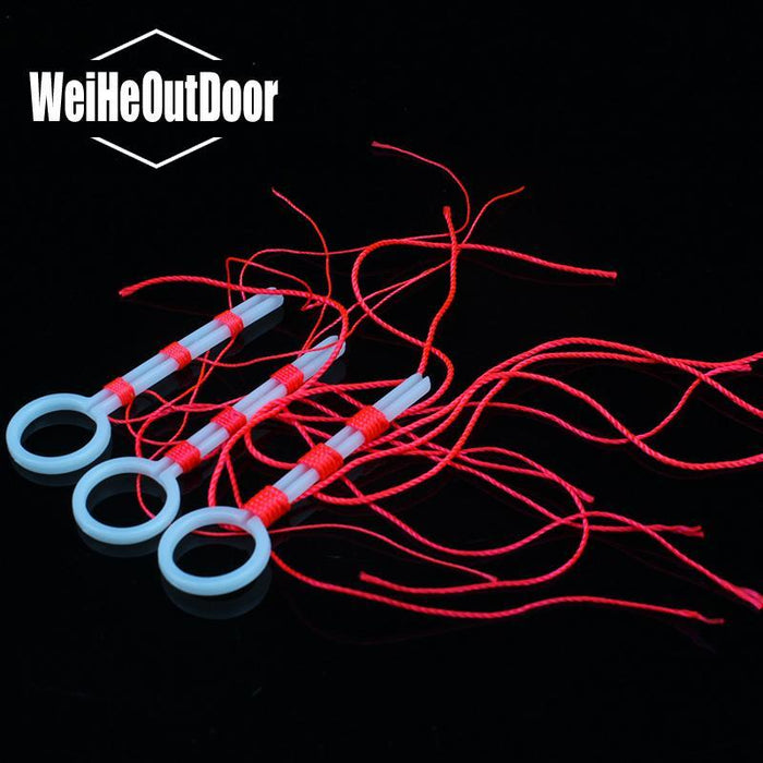 10Bags/Lot Cotton Line Knot Fishing Line Red Color 20Mm Line For Rock Fishing-weihefishing Official Store-1.0-Bargain Bait Box