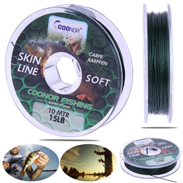 10M 8 Strands Multifilament Fishing Line Weaves Strong Casting Line Pe 8 Braided-gigibaobao-20lb 10m-Bargain Bait Box