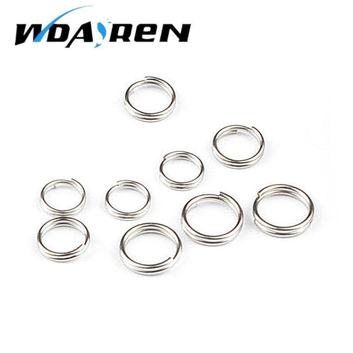 10Pcs 0.6Cm 0.7Cm 0.8Cm Split Rings For Blank Lures Crank Bait Hard Tool Fishing-Fishing Split Rings-Bargain Bait Box-6MM-Bargain Bait Box