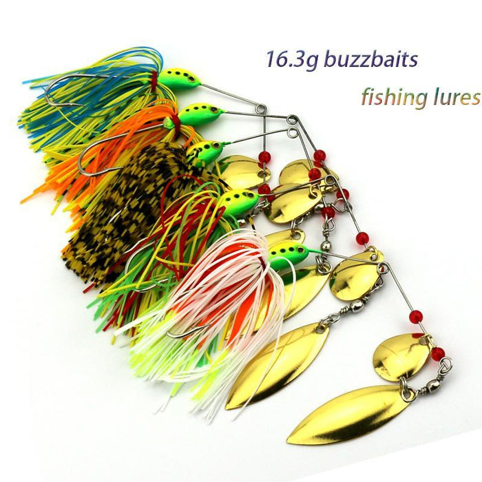 10Pcs 16.3G Spinner Sb001 Spoon Lead Head Bass Metal Sequin Fishing Baits-Spinnerbaits-Bargain Bait Box-Bargain Bait Box