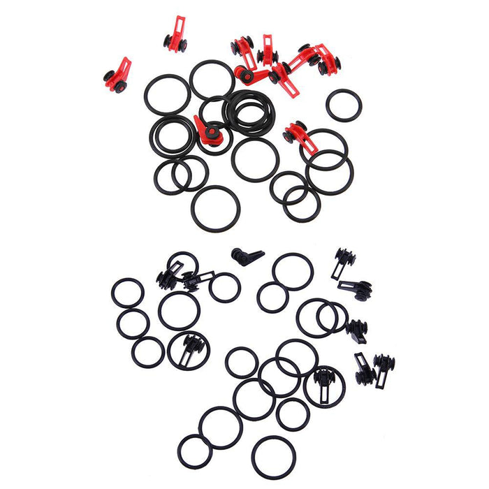 10Pcs 2 Colors Fishing Rod Hook 2 Circles And 1 Plastic Keeper Plastic Holder-Hook Keepers-Bargain Bait Box-Black-Bargain Bait Box