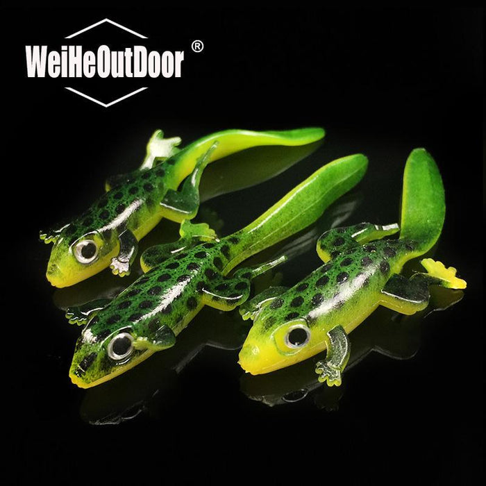 10Pcs 7.5Cm 3G Lifelike Lizard Soft Bait 3D Eyes Saltwater Fishing Tackle Bass-Lizards-Bargain Bait Box-Bargain Bait Box
