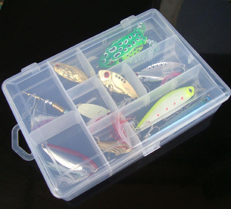 10Pcs Fish Spoon Soft Frog Minnow Feather Hook Fishing Bait Box Mix Set-Mixed Combos & Kits-Bargain Bait Box-Bargain Bait Box