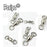 10Pcs Heavy Duty Ball Bearing Barrel Fishing Rolling Swivel Stainless Steel-paxipa Official Store-0-Bargain Bait Box