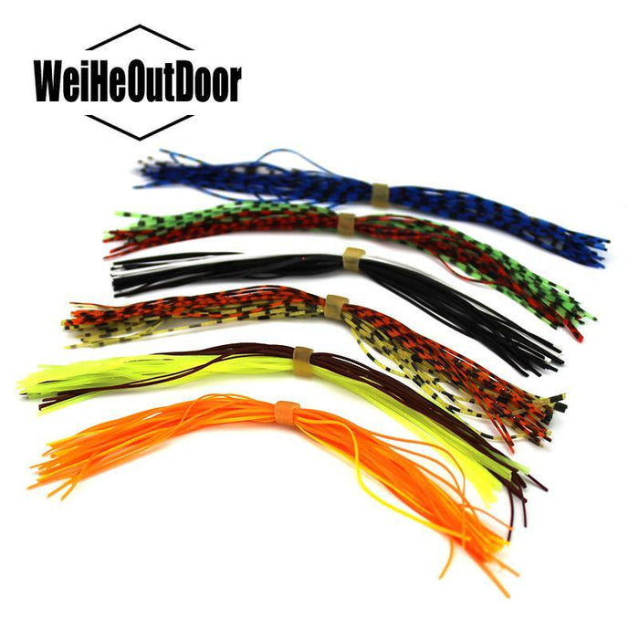 10Pcs Muticolor 30 Strands Silicone Skirts Fishing Diy Spinner Batis Buzz-Skirts & Beards-Bargain Bait Box-Silicone Skirts-Bargain Bait Box