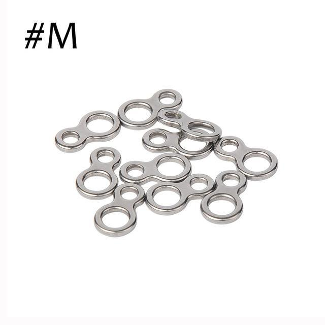 10Pcs Split Rings For Blank Lures Crank Bait Hard Bait Double Ring Lures-Fishing Split Rings-Bargain Bait Box-M-Bargain Bait Box