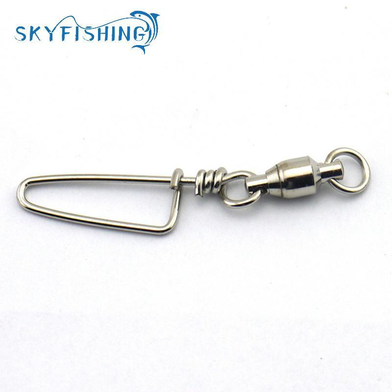 50x Stainless Steel Ball Bearing Fishing Swivels Snap Rolling Sea Connector US