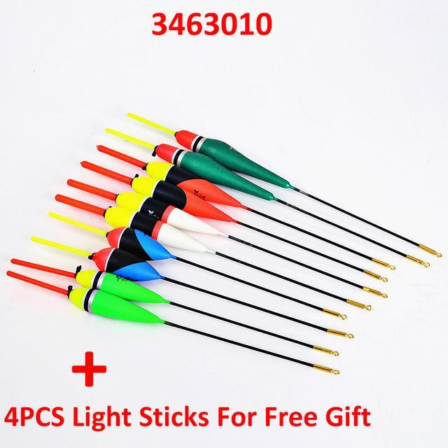 10Pcs/Lot 1G-5G Multi Color Day Night Fishing Float Bobbers With Glow Light-Glow Floats-Bargain Bait Box-3463010-Bargain Bait Box