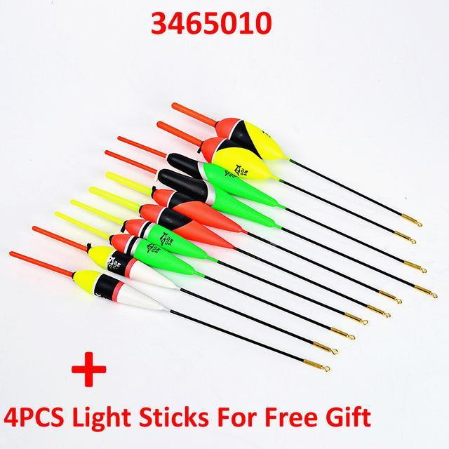 10Pcs/Lot 1G-5G Multi Color Day Night Fishing Float Bobbers With Glow Light-Glow Floats-Bargain Bait Box-3465010-Bargain Bait Box