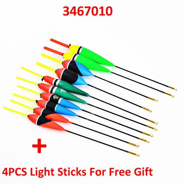 10Pcs/Lot 1G-5G Multi Color Day Night Fishing Float Bobbers With Glow Light-Glow Floats-Bargain Bait Box-3467010-Bargain Bait Box