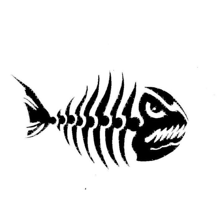 10Pcs/Lot 20Pcs/Lot Fish Skelton Fishing Red Bass Grouper Deep Sea Window-Fishing Decals-Bargain Bait Box-Black-Wholesal 10pcs-Bargain Bait Box