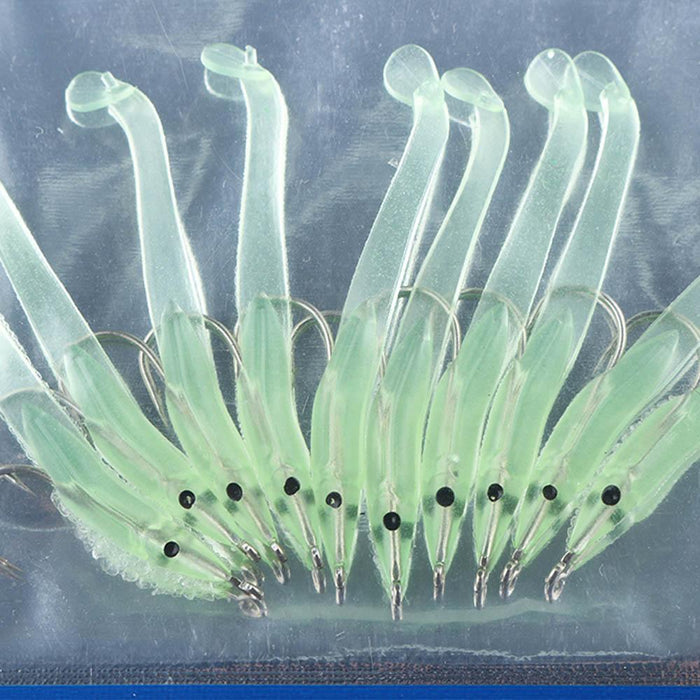 10Pcs/Lot Portable Fishing Eel Lure Artificial Luminous Soft Silicone Baits Lead-Rigged Plastic Swimbaits-QIFISH Store-68mm-Bargain Bait Box
