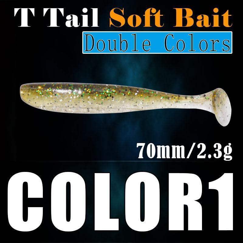 10Pcs/Lot T Tail Worm Bait 68Mm 2.3G Silicon Lure T Tail Pesca Wobblers-A Fish Lure Wholesaler-Other-Bargain Bait Box