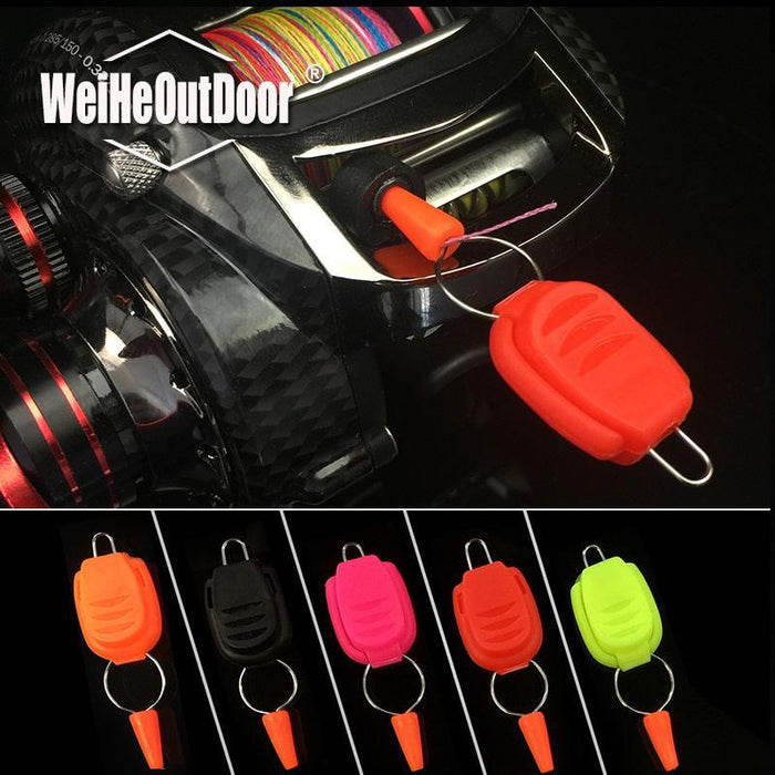 10Pcs/Lot Updated Fishing Line Holder Keeper Reel Reel Steel Wire Buckle Line-Line Stoppers-Bargain Bait Box-Bargain Bait Box