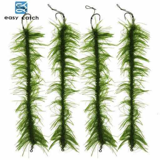 10Pcs/Set Weed Carp Fishing Hair Rigs Braided Thread 8245 Barbless Curve Fishing-Bait Rigs-Bargain Bait Box-Bargain Bait Box