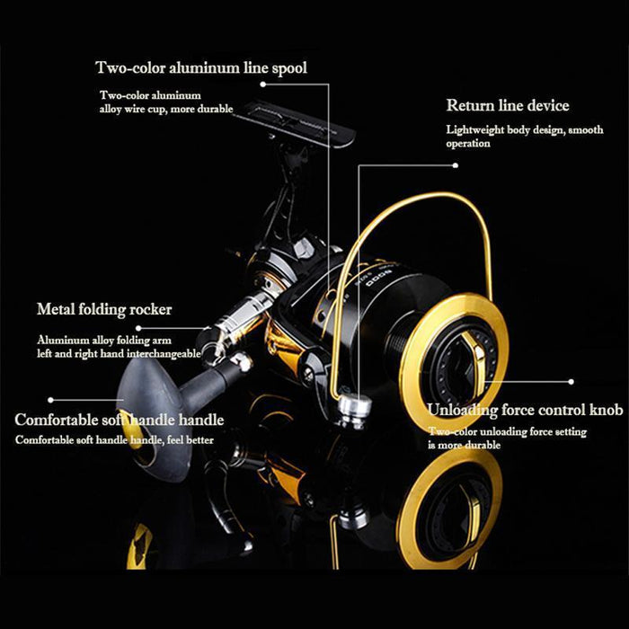 11 Bearing Spinning Fishing Reel 6000 8000 10000 Speed G-Ratio 4.2:1-Spinning Reels-Jesen Store-6000 Series-Bargain Bait Box