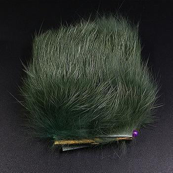 11Colors Fly Fishing Tying Materials Fiber De Pesca Rabbit Zonker Strips Wide-Royal Sissi Franchised Store-blackish green-Bargain Bait Box