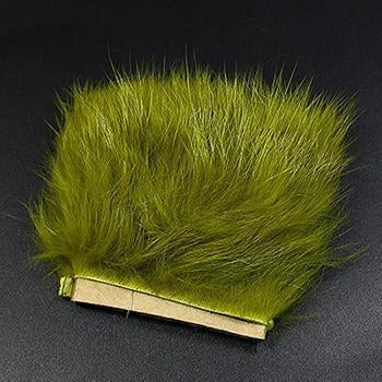 11Colors Fly Fishing Tying Materials Fiber De Pesca Rabbit Zonker Strips Wide-Royal Sissi Franchised Store-olive green-Bargain Bait Box
