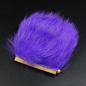 11Colors Fly Fishing Tying Materials Fiber De Pesca Rabbit Zonker Strips Wide-Royal Sissi Franchised Store-Purple-Bargain Bait Box