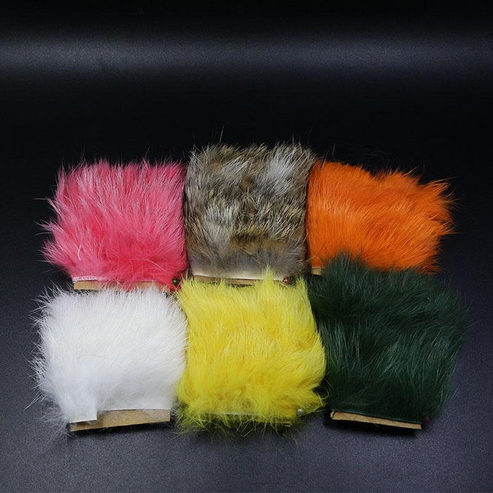 11Colors Fly Fishing Tying Materials Fiber De Pesca Rabbit Zonker Strips Wide-Royal Sissi Franchised Store-White-Bargain Bait Box