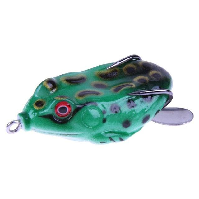 11G 3D Ray Frog Tackle Hook Baits Soft Plastic Fishing-Frog Baits-Bargain Bait Box-Dark Green-Bargain Bait Box
