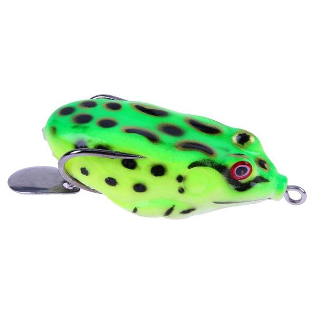 11G 3D Ray Frog Tackle Hook Baits Soft Plastic Fishing-Frog Baits-Bargain Bait Box-Green-Bargain Bait Box