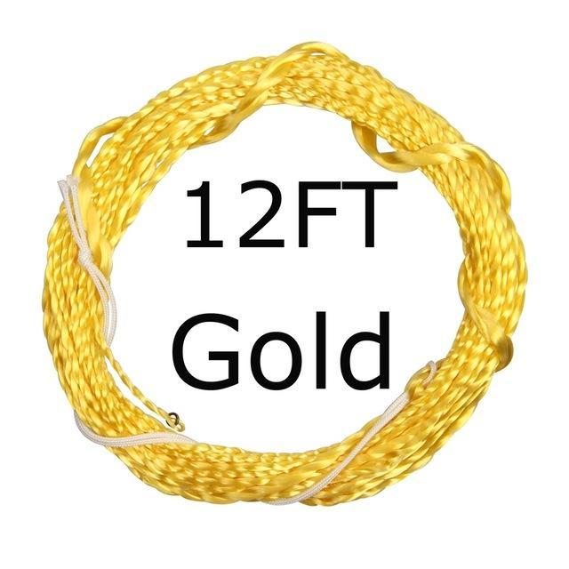 12 / 13Ft Furled Leader Tenkara Fly Fishing Line Polyester Braided Furled Leader-AnglerDream Store-12GOLD-Bargain Bait Box