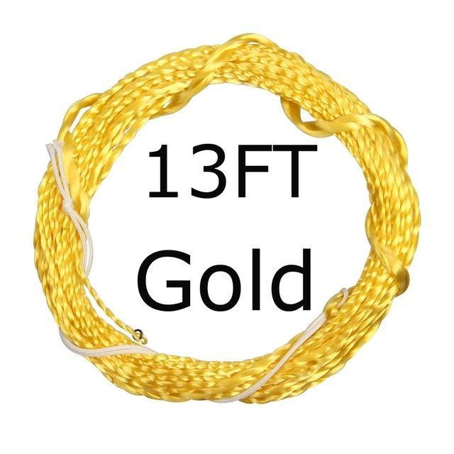 12 / 13Ft Furled Leader Tenkara Fly Fishing Line Polyester Braided Furled Leader-AnglerDream Store-13GOLD-Bargain Bait Box