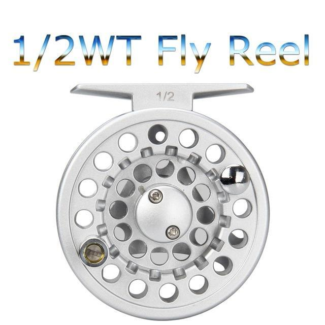 1/2 3/4 5/6 7/8Wt Fly Reel Silver Die Casting Large Arbor Fly Fishing Reel Spare-Fly Fishing Reels-Bargain Bait Box-12-Bargain Bait Box