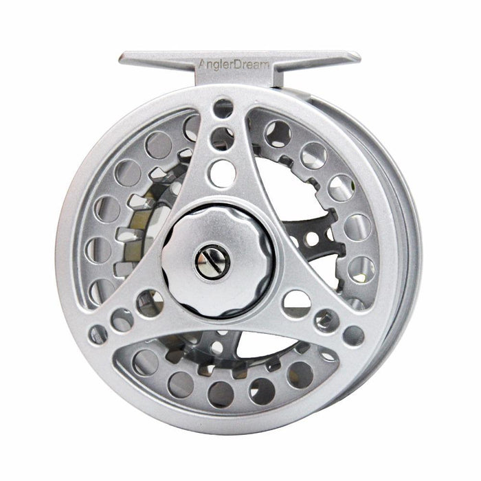 1/2 3/4 5/6 7/8Wt Fly Reel Silver Die Casting Large Arbor Fly Fishing Reel Spare-Fly Fishing Reels-Bargain Bait Box-34-Bargain Bait Box