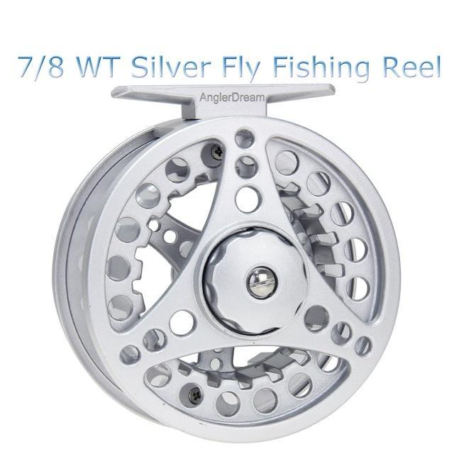 1/2 3/4 5/6 7/8Wt Fly Reel Silver Die Casting Large Arbor Fly Fishing Reel Spare-Fly Fishing Reels-Bargain Bait Box-78-Bargain Bait Box