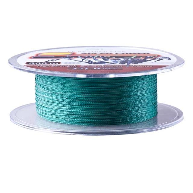 12-80Lb 300M 4 Braided Pe Fishing Line Linha Pesca Multifilamento Strong-Luremaster Fishing Tackle-Green-0.4-Bargain Bait Box