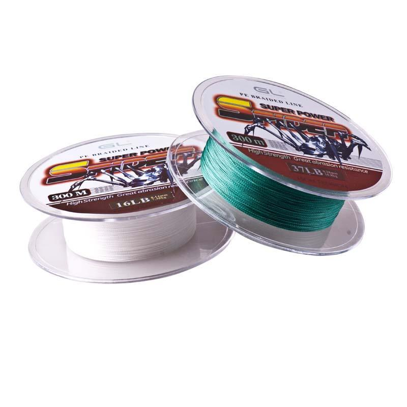 12-80Lb 300M 4 Braided Pe Fishing Line Linha Pesca Multifilamento Strong-Luremaster Fishing Tackle-White-0.4-Bargain Bait Box