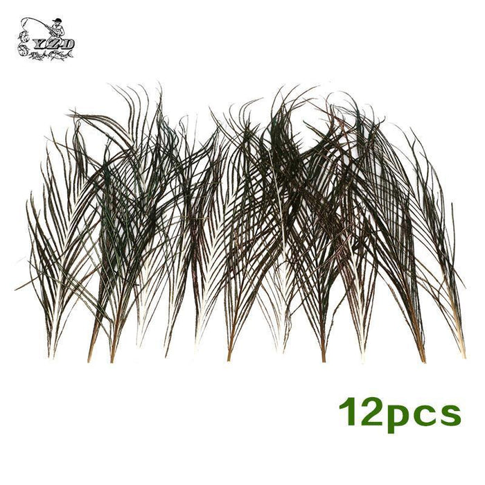 12 Pcs Strung Peacock Feather Herl 1/2 Yard Of 10-12 Inches Fly Tying Material-Fly Tying Materials-Bargain Bait Box-Bargain Bait Box