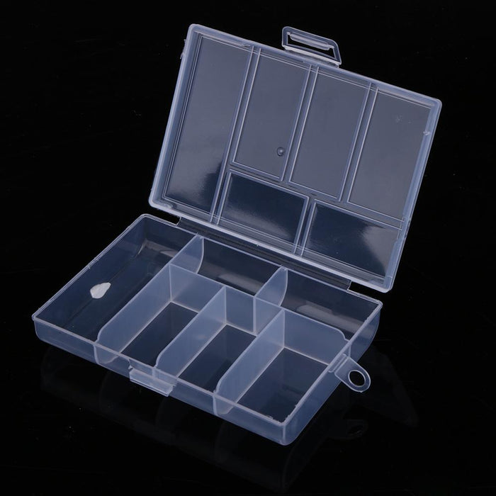 120L Fixable 6 Compartment Plastic Storage Box 118*85*20Mm Fishing Holder-Compartment Boxes-Bargain Bait Box-Bargain Bait Box