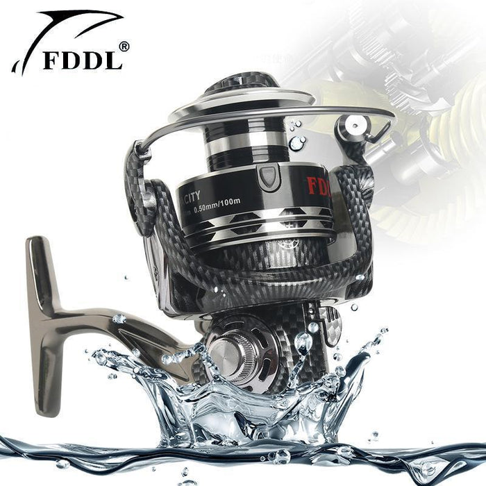 12+1 5.2:1 Full Metal Body Spinning Fishing Reel Gapless Serpentine Pattern-Spinning Reels-YPYC Sporting Store-1000 Series-Bargain Bait Box