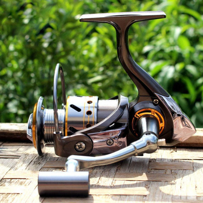 12+1 Bb 5.2:1 Spinning Reel Fishing Metal Aluminum Cup Cnc Metal Rocker Arm-Spinning Reels-duo dian Store-1000 Series-Bargain Bait Box