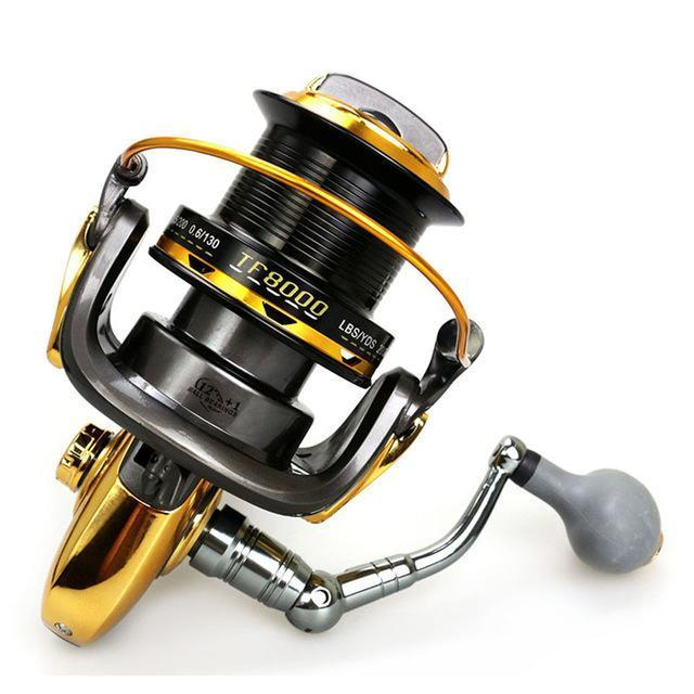 12+1Bb 4.6:1 Aluminum Alloy Wire Cup Fishing Spinning Reel Large Capacity Long-Spinning Reels-duo dian Store-8000 Series-Bargain Bait Box