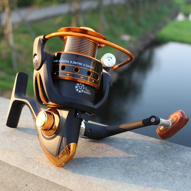 12+1Bb Gear Ratio 5.2:1 Ax500 - 9000 Series Metal Line Cup Spinning Fishing Reel-Spinning Reels-OUTDOODR EXPERT Store-1000 Series-Bargain Bait Box