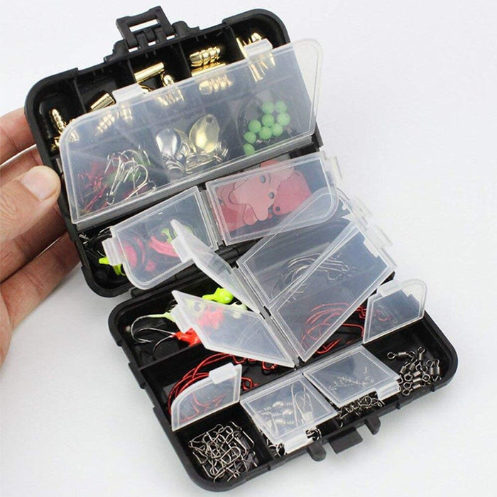 128Pcs/Box Fishing Tackle Set Baits Hooks Sequins Lures Freshwater Fishing-Fishhooks-Shop5081235 Store-As show-Bargain Bait Box