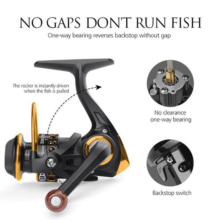 12Bb 5.2:1 Mini Spinning Reel Portable Left Hand Metal Spool Stainless Steel-Fishing Reels-Outdo SaleAdWords, AdWords 2018, Apparelor 2019 Store-B-Left Hand-China-Bargain Bait Box