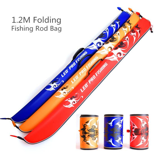 1.2M Foldable Eva Fishing Rod Bag Portable Rock Fishing Rod Tackle Storage Bag-Fishing Rod Bags & Cases-Bargain Bait Box-Bargain Bait Box